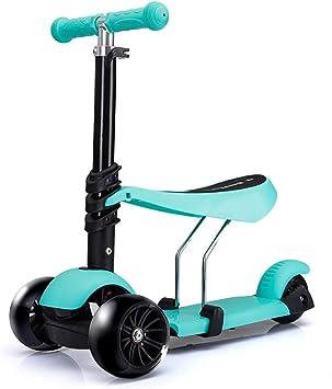 Amazon.com: Patinete con ruedas intermitentes, manillar ...