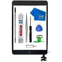 MMOBIEL Digitizer Display Glas für iPad Mini 1/2 (Schwarz) 7.9 Inch Touchscreen Ersatzteil Inkl Flex Home Button + Kamera Halterung + Klebesticker mit IC Chip und Werkzeugset mit Anleitung