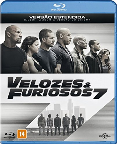Blu-ray Velozes e Furiosos 7 [ Fast and Furious 7 Extended Version ] [ English + Spanish + Portuguese ] [ Region ALL ]