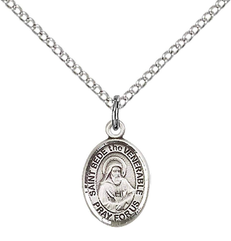 Hannibal Pendant with 18 Stainless Steel Lite Curb Chain Sterling Silver St Patron Saint of Orphanages//Seminarians