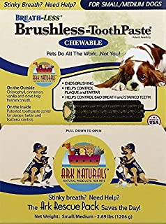 product image for Ark Naturals Breath-Less Brushless Chewable Toothpaste for Small to Medium Dogs (60 Case)