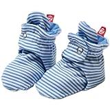 Zutano Unixex Baby Candy Stripe Bootie, Periwinkle, 6 Months
