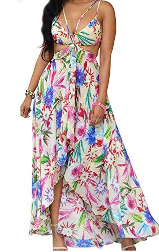 YeeATZ Multi-color Floral Maxi Dresst(Pink,S) (Brazil Fancy Dress Ideas)