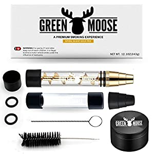 4. Bundle Spiral New Blunt- For Dry Herbs Paper | 1x Quartz Glass - 1.5 GM | 1x Mouth Pc | 4x O-Rings | 2x Rubber Caps | 1x Small Cleaning Brush | 1x Big Cleaning Brush | 1x Free Grinder | Great Gift