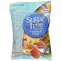 Go Lowly Sugar Free Hard Candy Surtido de frutas tropicales, bolsa de 2.75 oz, Kosher