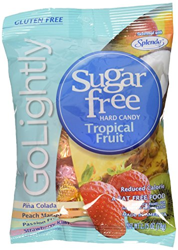 Go Lightly Sugar Free Hard Candy Tropical Fruit Assortment, 2.75 oz bag, Kosher
