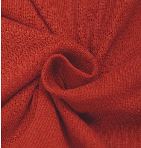 Confortable Femmes Col Roulé Couleur Pure Ourlet Irrégulière Rouge Robe À Manches Longues