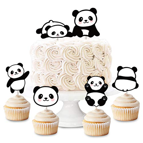 Panda Cupcake Toppers Picks 24pcs - Panda Party Supplies Birthday & Baby Shower]()