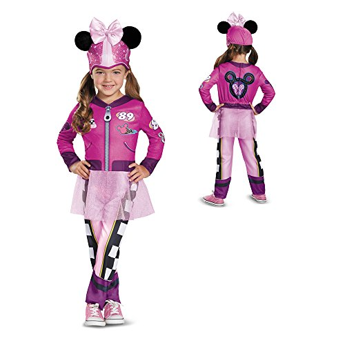 Minnie Roadster Classic Toddler Costume, Multicolor, Large (4-6X) - Minnie And Mickey Costumes For Girls