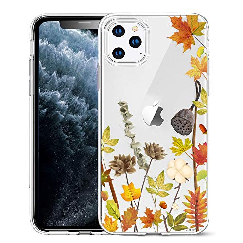 Everyday Is Like Halloween Lyrics (Unov Clear with Design for iPhone 11 Pro Case Slim Protective Soft TPU Bumper Embossed Pattern Cover 5.8 Inch (Leaves)