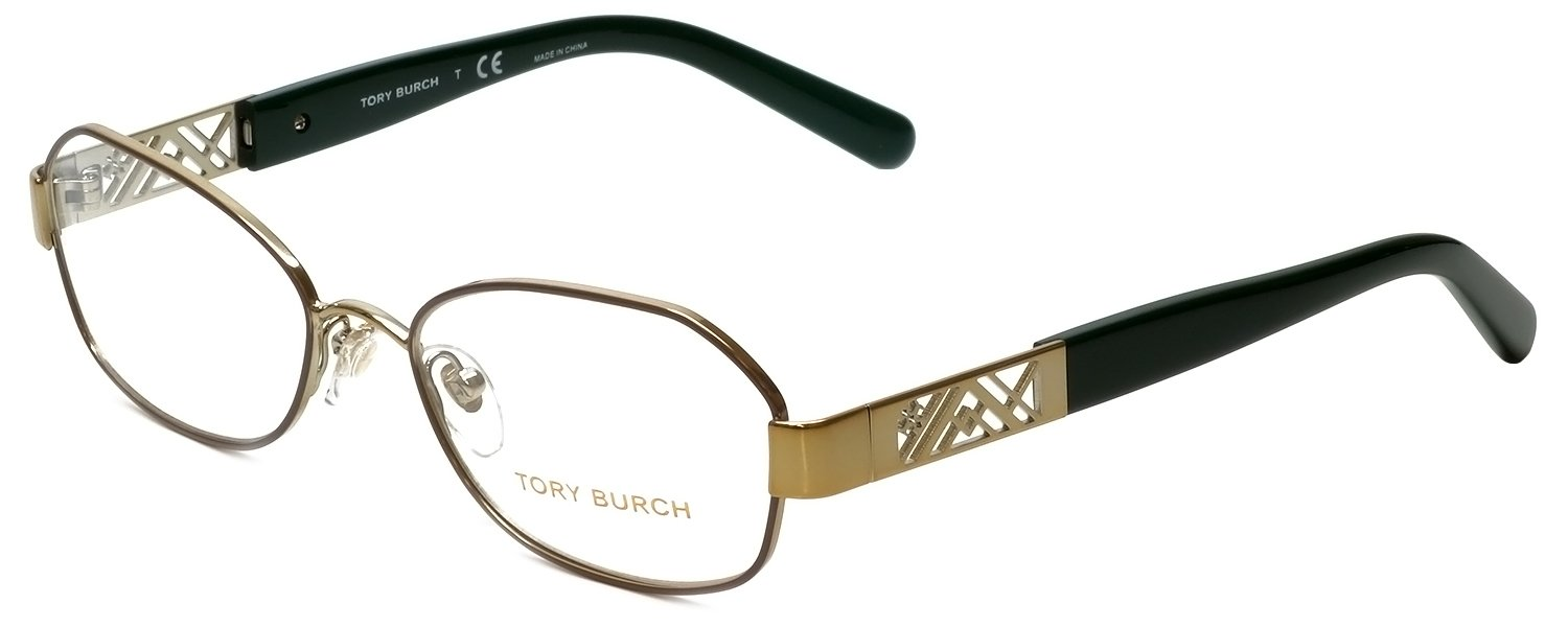 Tory Burch Eyeglasses TY1043 3061 Brown/Gold 52 17 135 by Tory Burch