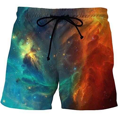 ZFADDS Mens Shorts Classical Galaxy Space 3D Print for sale  Delivered anywhere in USA
