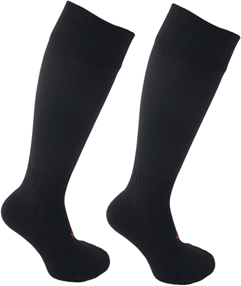 Twin Pack STAY UP Kid/'s Sports Socks 2 Pairs with Stay On Technology Black