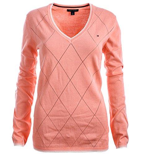 Tommy Hilfiger Damen V-Neck Pullover Pulli Strickpullover Größe M IOB0X1