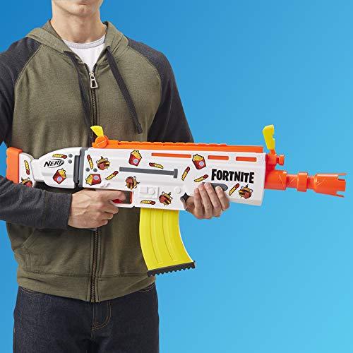 51zC8EAiGML - NERF Fortnite AR-Durrr Burger Motorized Blaster -- Customizing Stickers, 20 Darts, 10-Dart Clip -- for Youth, Teens, Adults (Amazon Exclusive)
