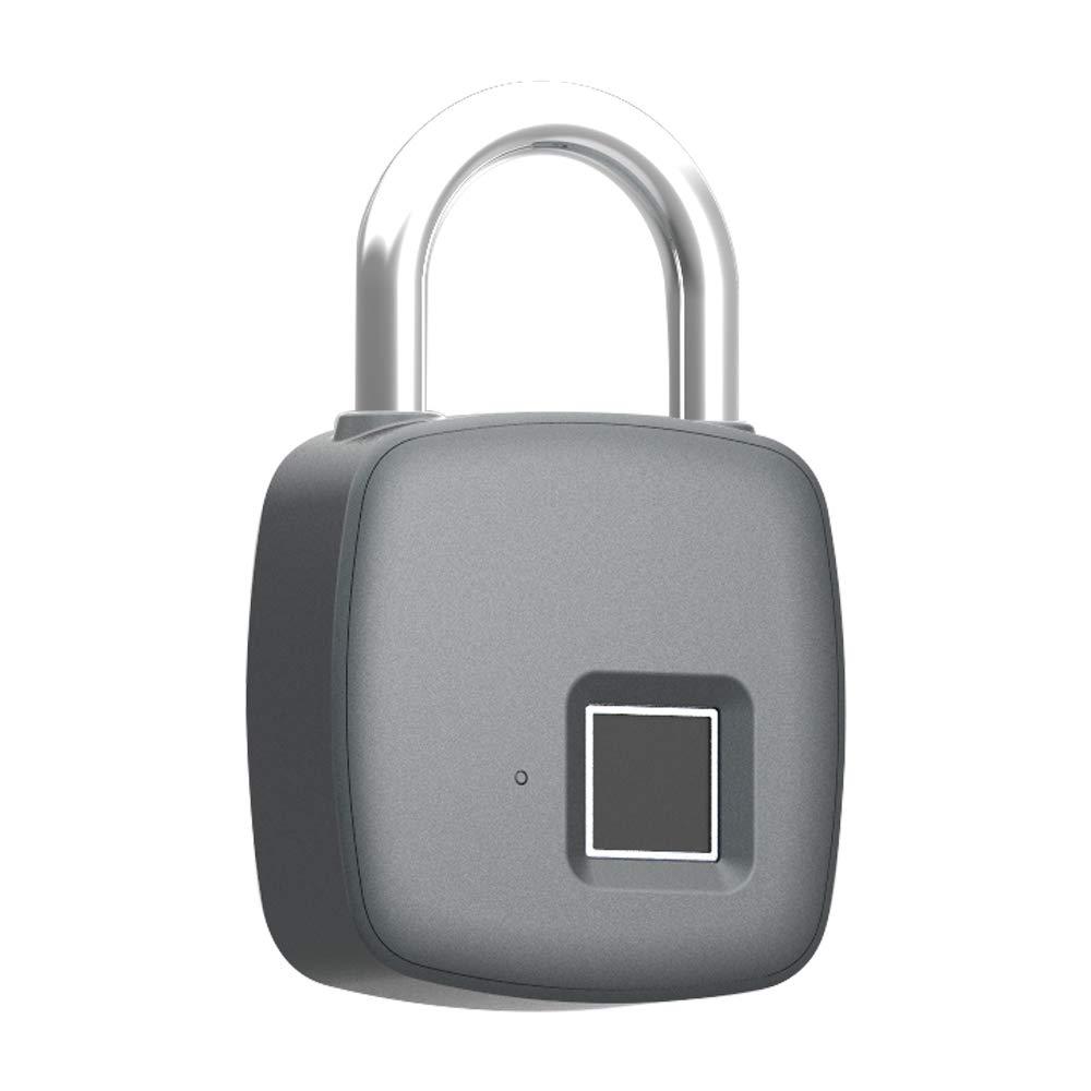 OWSOO Cerraduras de Huella Digital Inteligente Candado de Puerta Carga USB Impermeable: Amazon.es: Electrónica