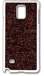 Samsung Galaxy Note 4 PC Hard Shell Case Criss Cross White Skin by Sallylotus
