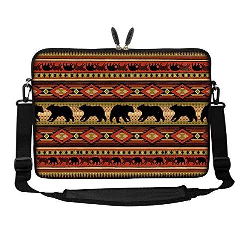 Sleeve Bear - Meffort Inc 15 15.6 inch Neoprene Laptop Sleeve Bag Carrying Case with Hidden Handle and Adjustable Shoulder Strap - Bear
