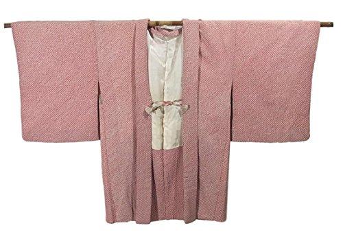 リサイクル 羽織 総絞り 正絹 ピンク色 裄61cm 身丈79cm