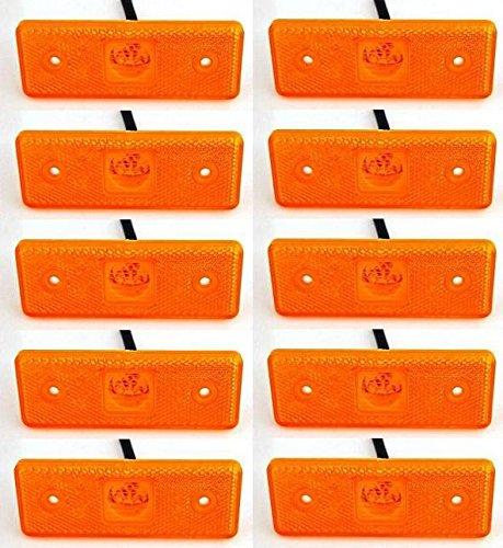 10/x 24/V LED Ambre Orange c/ôt/é Outline Feux de gabarit 4/LED Ch/âssis de remorque Camion caravane
