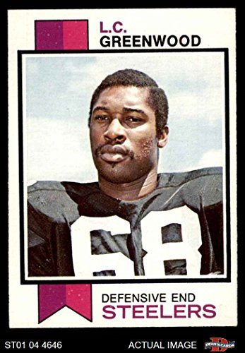 Steelers Lc Greenwood (1973 Topps # 165 L.C. Greenwood Pittsburgh Steelers (Football Card) Dean's Cards 5 - EX Steelers)