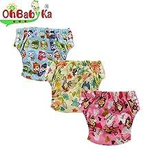 Ohbabyka Baby Training Pants,baby diapers waterproof, 3PCS Pack