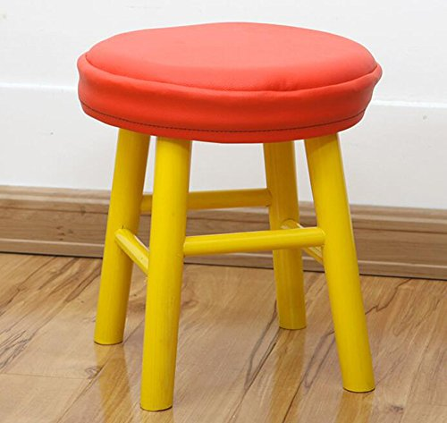 Sigmat Wood Kid Round Stools and Toddler Chair Yellow by Sigmat (Image #8)