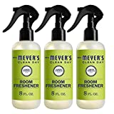 Mrs. Meyer's Clean Day Room Freshener, Lemon Verbena Scent, 8 Ounce Non-aerosol Spray Bottle (Pack of 3)