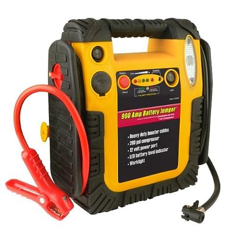 Wagan 900 Amp Battery Jumper with Air Compressor (Air Compressor Jumper)
