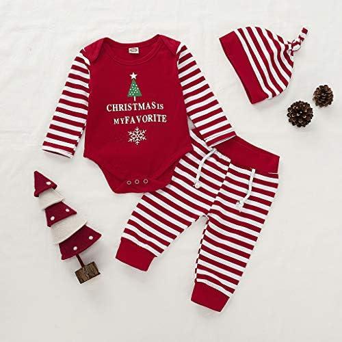 cinnamou Conjuntos Bebe NiñA 3Pcs, Pijama De Navidad Tops ...