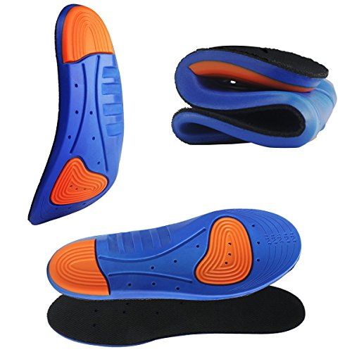 HLYOON Sports Gel Insoles and Shoe Inserts for Women and Men Breathable Cushion with small holes(S)
