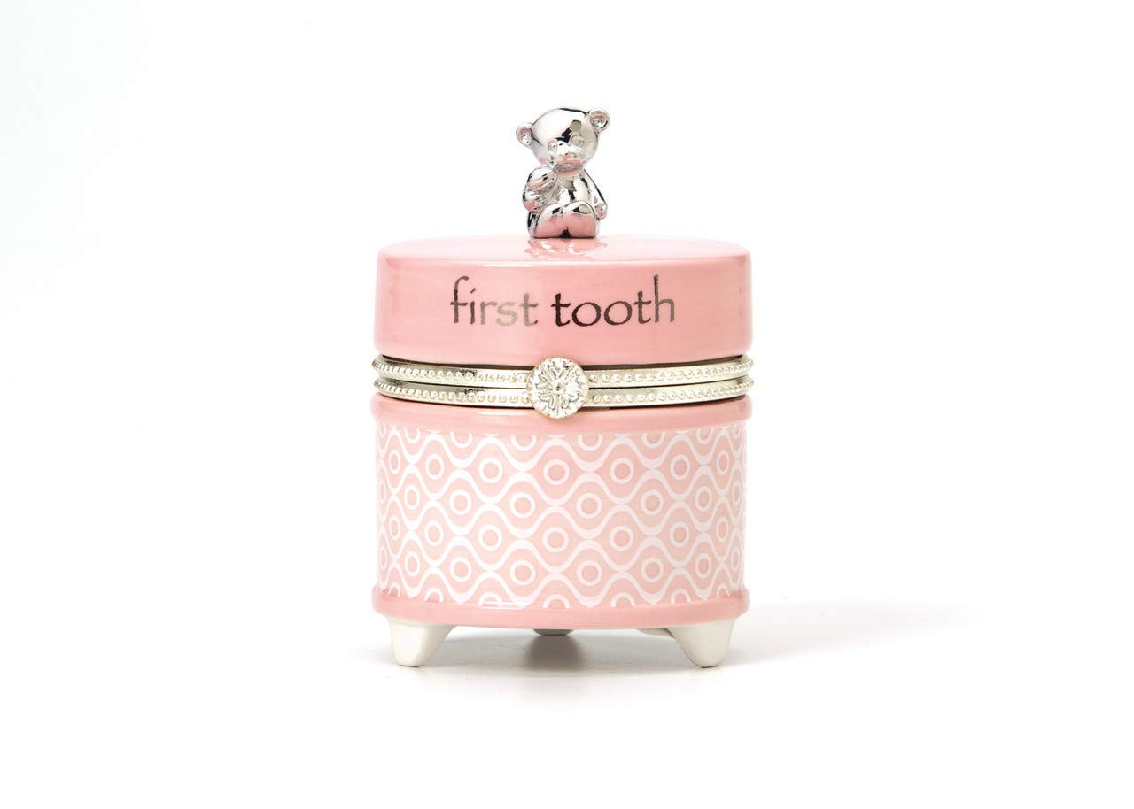 Nat and Jules First Tooth Keepsake Box, Pink
