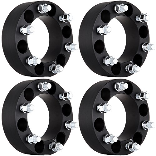 ECCPP Wheel Spacers, Replacement for Wheel Spacer Adapters 6 Lug 4X 2 50mm 6x5.5 (6x139.7) 14x1.5 Studs for 2003-2012 Cadillac Escalade Chevy Express Suburban Silverado GMC Sierra Savana 1500 Yukon
