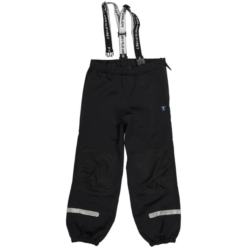 Polarn O. Pyret Waterproof Suspender Shell Pants (8-12YRS) - Black/9-10 Years