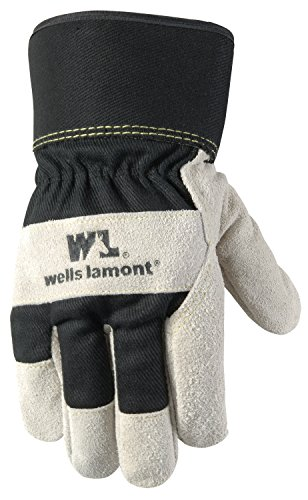 Men's Winter Work Gloves with Leather Palm, 100-gram Insulation, Suede Cowhide, X-Large (Wells Lamont 5130XL)