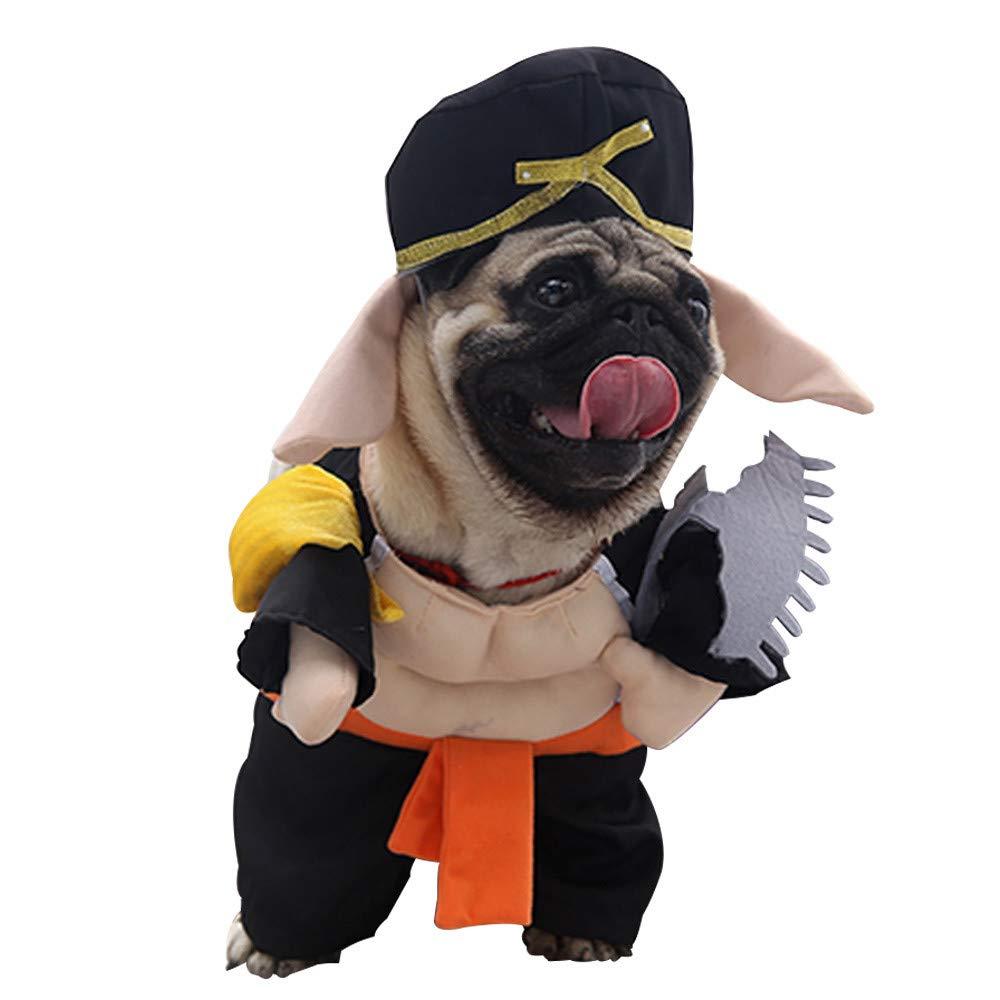 Sannysis Cremallera con Capucha Ropa para Mascotas Ropa de Gato para Perros Ropa de Mascota Linda Abrigo Caliente con Capucha Bulldog francés(Negro,Large): ...