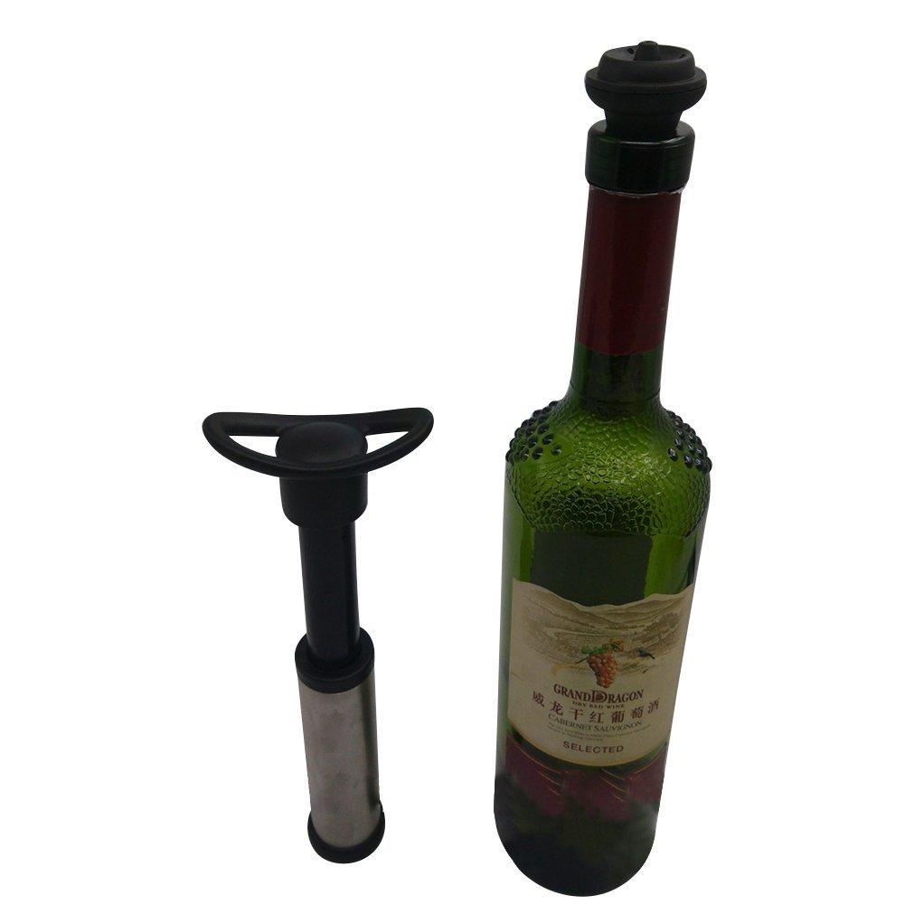 West See Weinpumpe mit 2 x Stopfen Weinlagerung Zubeh/ör Vakuumpumpe