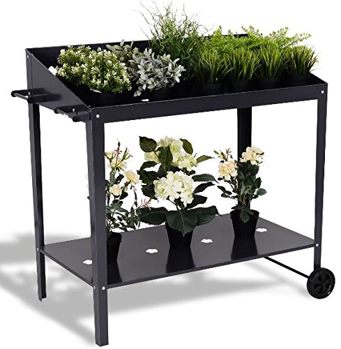 K&A Company Garden Bed Planter Raised Vegetable Flower Elevated Box Kit Grow Patio Outdoor Gardening Wooden Plant 40'' by K&A Company