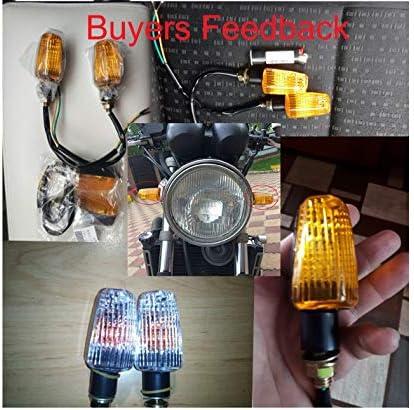 NO LOGO FJJ-DENG 4pcs for Moto Tour Signal Lumineux Clignotant Ampoule 12V 10W Orange for Honda Kawasaki Suzuki Yamaha Flasher Lamp Couleur : Clear Cover