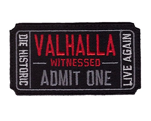 Hook Ticket to Valhalla Valknut Morale Tactical Vikings Patch by Titan One