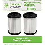 2 Cartridge Filters for Shark EP604 Stick Vacuums; Compare to Shark Part No. EU18410; Designed & Engineered by Crucial Vacuum