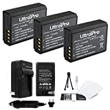 3-Pack LP-E10 High-Capacity Replacement Batteries with Rapid Travel Charger for Select Canon Digital Cameras. UltraPro Bundle Includes: Camera Cleaning Kit, Screen Protector, Mini Travel Tripod