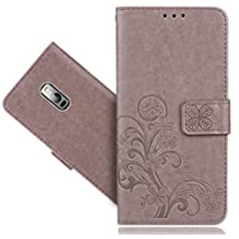 Oneplus 2 / OnePlus TWO Case, FoneExpert® Premium Leather Flower Kickstand Flip Wallet Bag Case Cover For Oneplus 2 / OnePlus TWO