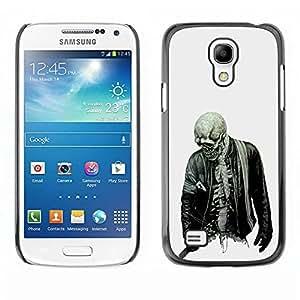 Slim Design Hard PC/Aluminum Shell Case Cover for Samsung Galaxy S4 Mini i9190 MINI VERSION! Biker Cool Skull Skeleton Zombie Rock / JUSTGO PHONE PROTECTOR