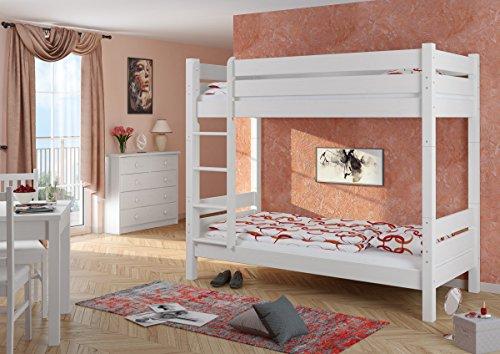 Letto A Castello Adulti.Letto A Castello Eco Per Adulti Bianco 100x200 Nicchia Da 100cm Divisibile 60 16 10 W T100