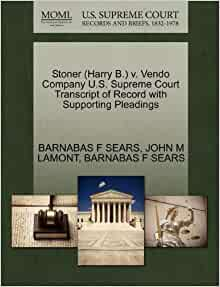 Stoner (Harry B.) v. Vendo Company U.S. Supreme Court