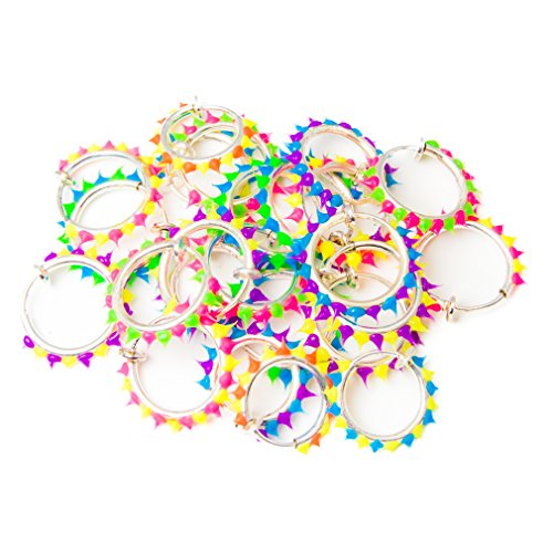 20-pack Non-piercing Fake Hoops w/ Silicone - Perfect for Lip, Nose, Eyebrow Cartilage & Ear - For All Ages