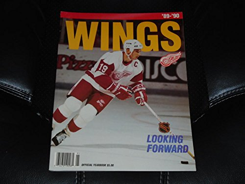 1989 1990 DETROIT RED WINGS NHL HOCKEY YEARBOOK NEAR ()