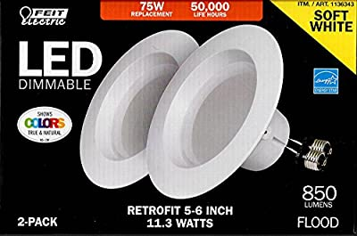 75W Replacement Dimmable Led Retrofit Kit 5-6 Inch - Upgraded Model - Soft White - 2 PACK