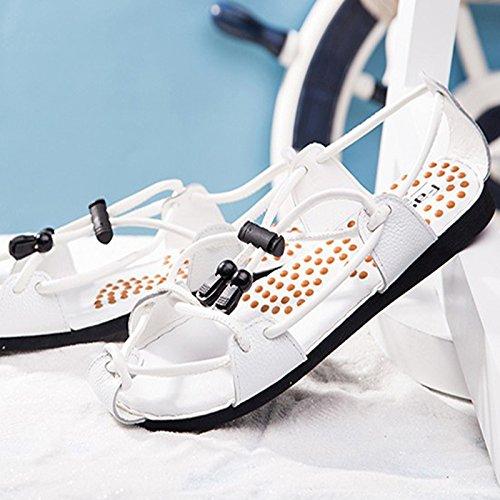 Xing Lin Flip Flop De La Playa Moda De Verano Para Hombres Sandalias Masaje Pies Antideslizante Baño Home Zapatos De Hombre white